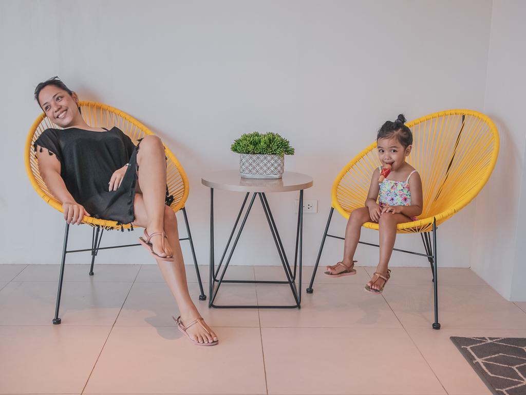 filipina mom and toddler