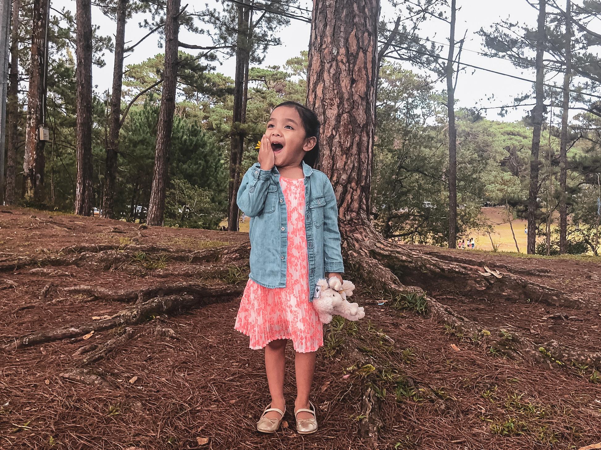 Kerrigan in the pine trees